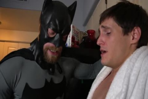 Batman receives Villain To Talk With oral sex-job And Tickling