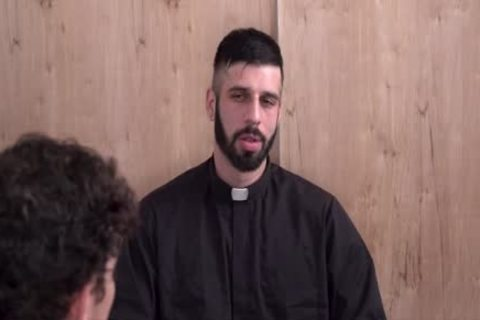 Sinful lad Punished By horny Priest
