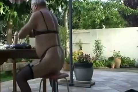 Nudansboue older Sissy Outdoor Exhibitionist Collection