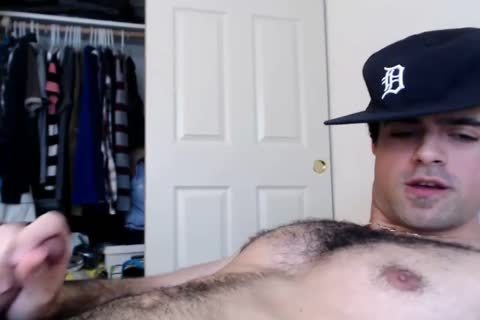 web camera sperm: Straight hairy Daddy Jerks And Cums
