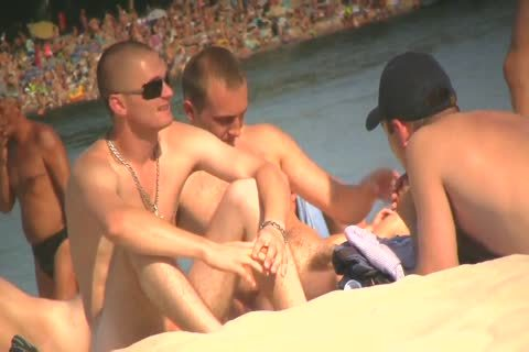 SPYING ON in nature's garb males AT THE NUDIST BEACH - VOL 1