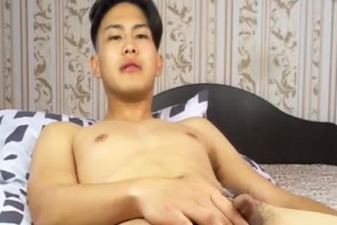 lovely Korean twink Tugging small wang And Shotting Loads Of cum