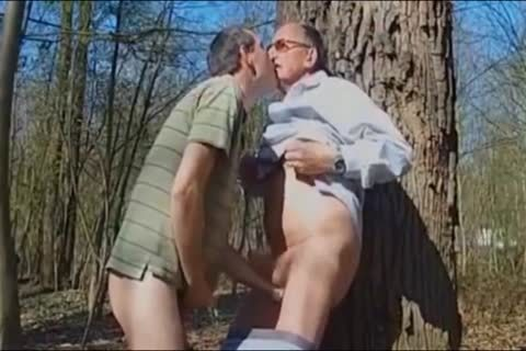 DADDY nailing old man IN THE WOODS three