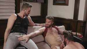 Icon Male - Inked and muscle Brendan Patrick threesome