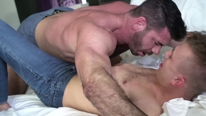 IconMale.com: Jock Billy Santoro blowjob cum in HD
