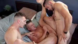 NextDoorBuddies - Inked Dante Colle among Jake Porter rimming