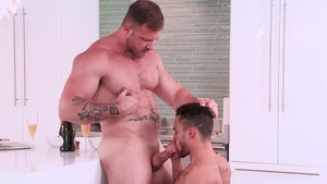 Hot House: Hairy & wet Austin Wolf gagging in the bed