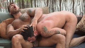 HotHouse - Latino bodybuilder Viktor Rom butt fuck outdoors