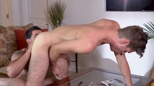 Falcon Studios: Michael DelRay touching big cock
