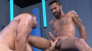 Raging Stallion: Hairy & tattooed Adam Ramzi rimming