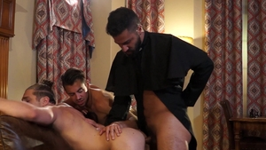 Falcon Studios - Adam Ramzi wearing uniform & Dante Colle