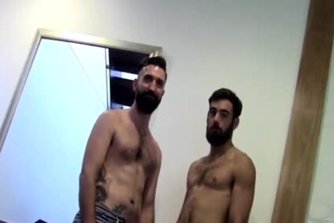 Tattooed Bearded dilettante butthole fucked By paramour After rimming
