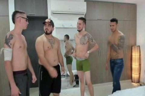 group Of men Playing With Their dick In Live