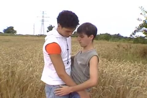 Two sexy men have a enjoyment oral-sex outside